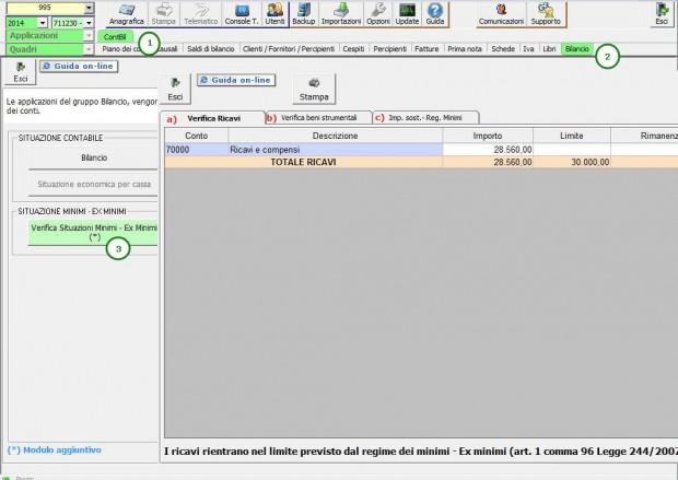 2 Gestione Minimi in contabilità