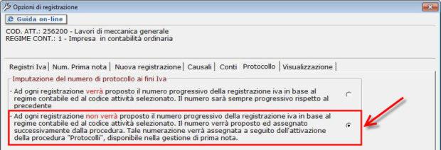 opzioni di registrazione