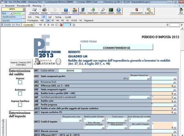 Software Regime Minimi - Software Contabilità GB