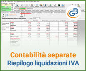 Contabilità separate: nuovo prospetto Riepilogo liquidazioni IVA