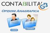 Opzioni Anagrafica Clienti e Fornitori