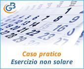 Caso pratico: Esercizio non solare (istruzioni per l'uso)