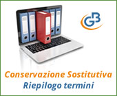 Conservazione Sostitutiva 2017: riepilogo termini