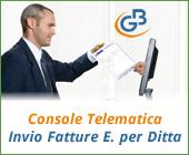 Console Telematica: invio Fatture Elettroniche per Ditta