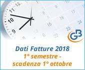 Dati Fatture 2018 (Nuovo Spesometro): 1° semestre - scadenza 1° ottobre