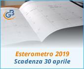Esterometro 2019 (gennaio, febbraio e marzo): scadenza 30 aprile 2019