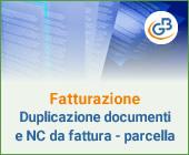 Fatturazione Web: Duplicazione documenti e Nota di Credito da Fattura/Parcella