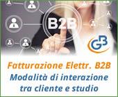 Fatturazione Elettronica B2B: modalità di interazione tra cliente e studio