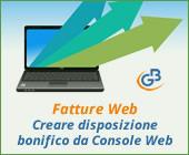 Fatture Web: creare una disposizione di bonifico da Console Web