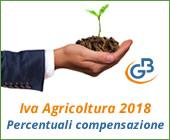 Iva Agricoltura 2018: percentuali di compensazione