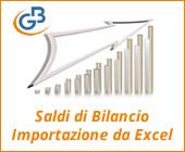 Saldi di bilancio: importazione da Excel