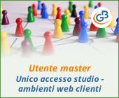 Utente master: unico accesso per lo studio agli ambienti web dei clienti