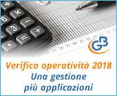 Verifica operatività 2018: una gestione più applicazioni