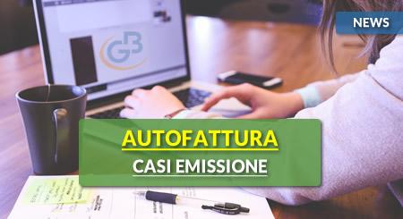 News - Autofattura: casi di emissione