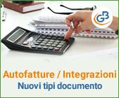 Autofatture/Integrazioni: nuovi tipi documento - Parte 2