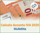 Calcolo acconto Iva 2020 multiditta