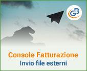 Console Fatturazione: invio dei file prodotti esternamente