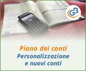 Piano dei conti: personalizzazione e nuovi conti