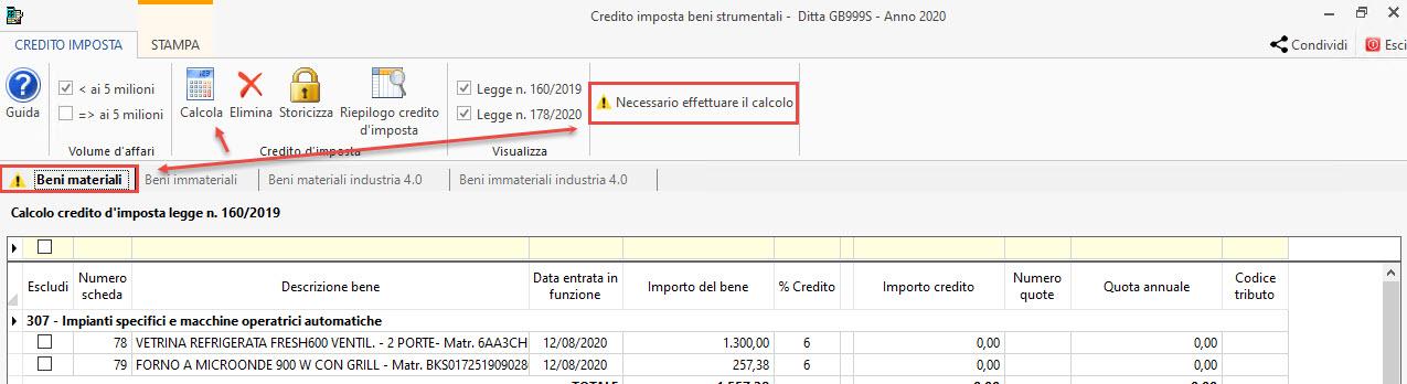 Disponibile gestione: Credito d'imposta beni strumentali 2020: necessario effettuare calcolo