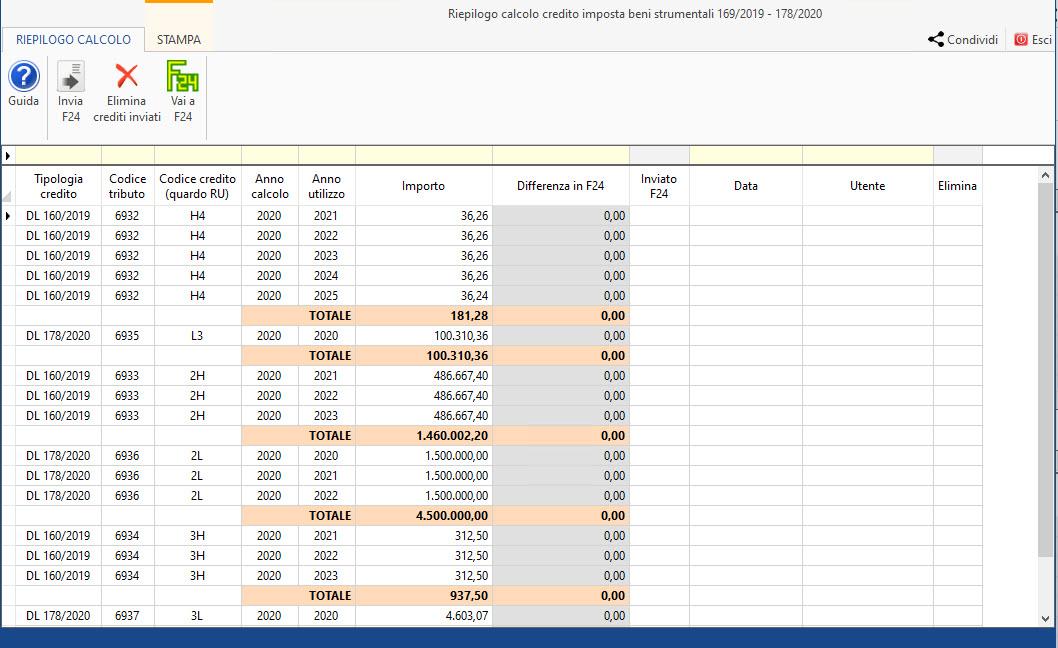 Disponibile gestione: Credito d'imposta beni strumentali 2020: riepilogo credito imposta beni strumentali