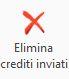 Elimina crediti inviati - Disponibile gestione: Credito d'imposta beni strumentali 2020
