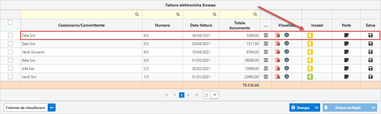 Gestione dello Scadenzario: Fatturazione inWeb: scadenze aggiunte e ggiornate nello scadenzario