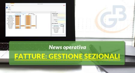 News operativa sulla gestione dei Sezionali nel software Fatture