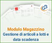 Modulo Magazzino: Gestione di articoli a lotti e data scadenza