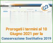 Prorogati i termini al 10 Giugno 2021 per la Conservazione Sostitutiva 2019
