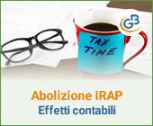 Quali effetti contabili comporta l'abolizione dell'IRAP di giugno?