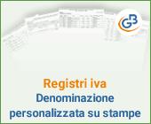 Registri IVA: denominazione personalizzata su stampe