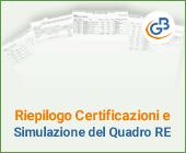 Riepilogo Certificazioni e simulazione del Quadro RE