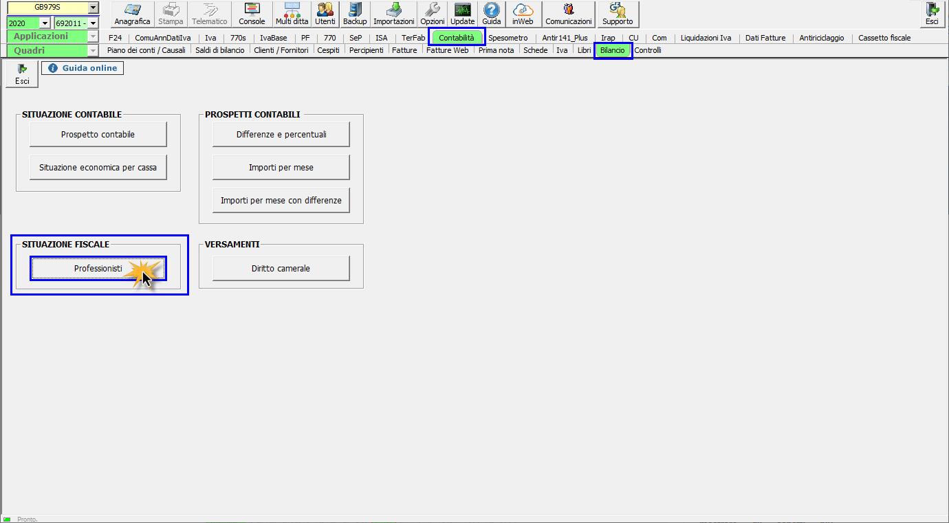 Riepilogo Certificazioni e simulazione del Quadro RE : prospetto fiscale