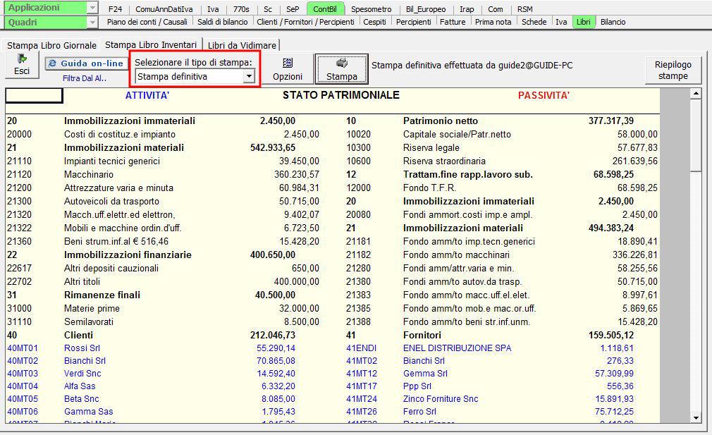 5fcd1b533d Stampa dei libri obbligatori - Software Contabilità