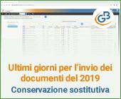 Ultimi giorni per l'invio dei documenti del 2019: Conservazione sostitutiva